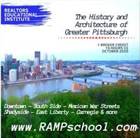 The History & Architecture of Greater Pgh (15 hrs - 1 broker credit)   Beginning Oct 2, 2020